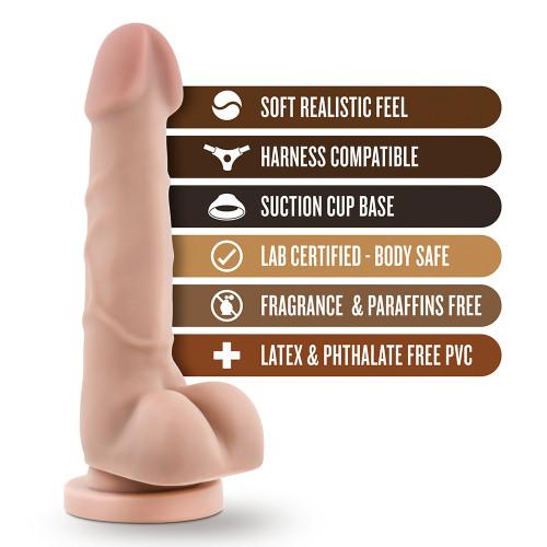 Dương Vật Giả Dr. Skin Realistic Cock Basic 7.75 inch