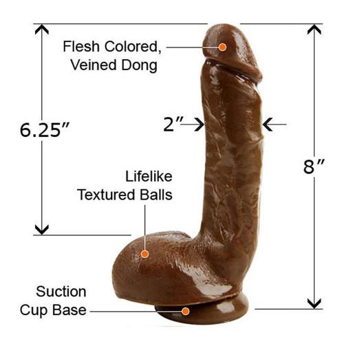 Dương Vật Giả Size Lớn TLC Adam's PleasureSkin Cock 8 inch